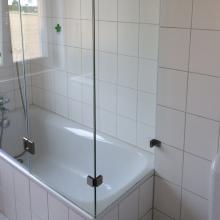 Duschwand als Badewannenaufsatz nach Maß   GLASPROFI24   {Duschabtrennung glas 87}