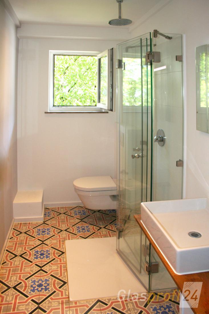 faltbare dusche aus glas mit stufenlosem einstieg - Dusche Aus Glas Oder Kunststoff