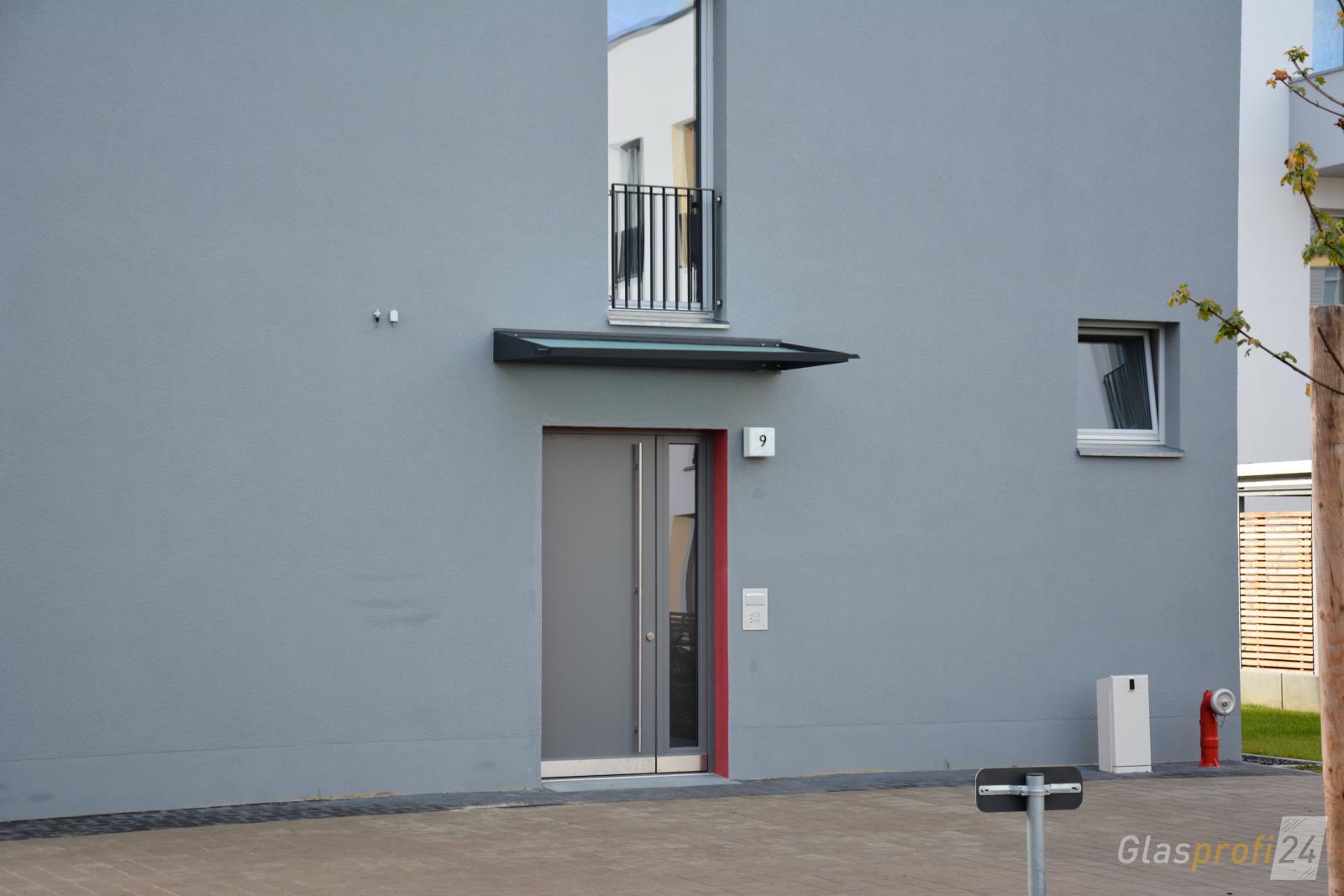 vordachsystem mit edelstahlrahmen glasprofi24. Black Bedroom Furniture Sets. Home Design Ideas