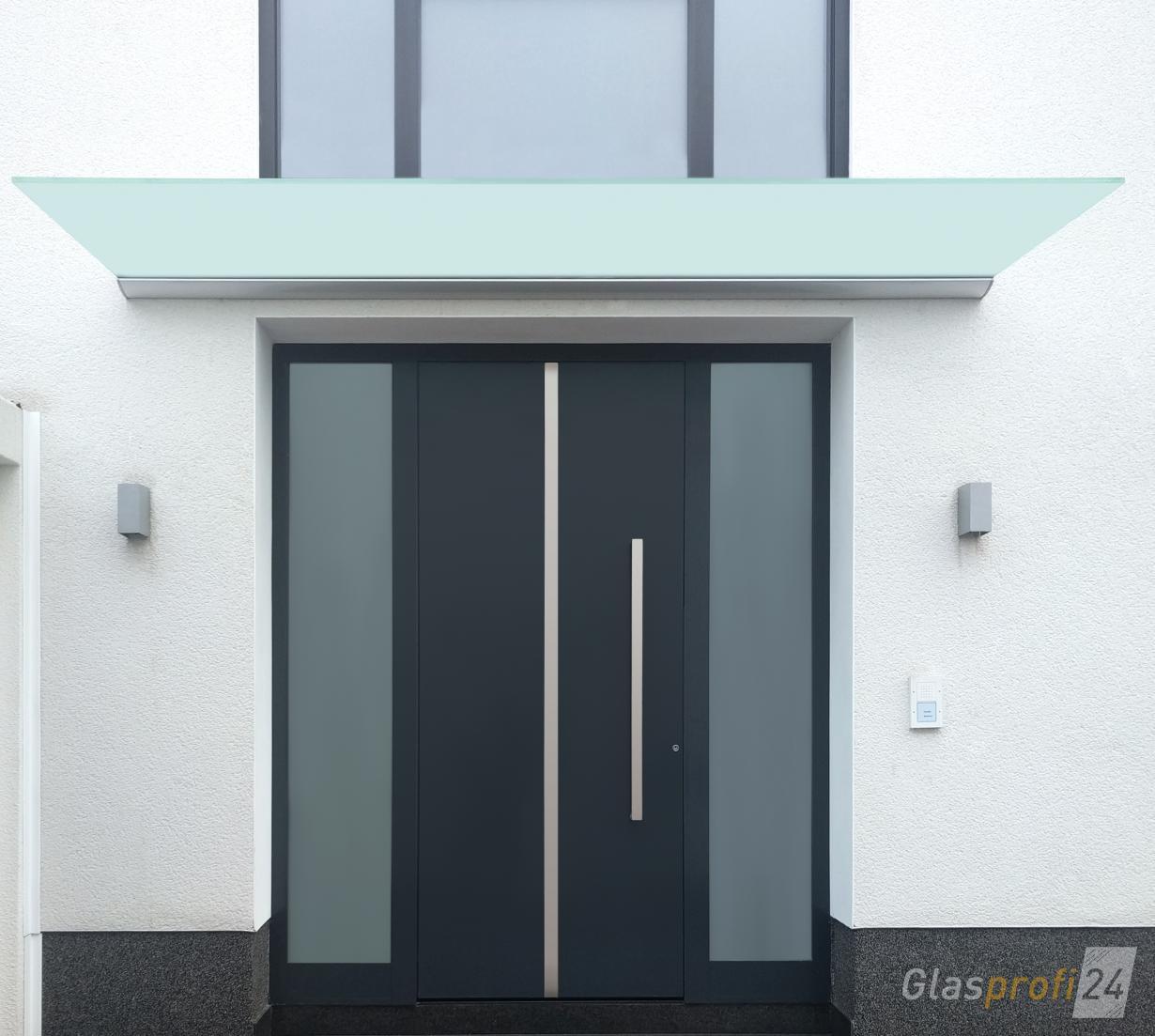 vordach dura ein freitragendes vordach glasprofi24. Black Bedroom Furniture Sets. Home Design Ideas