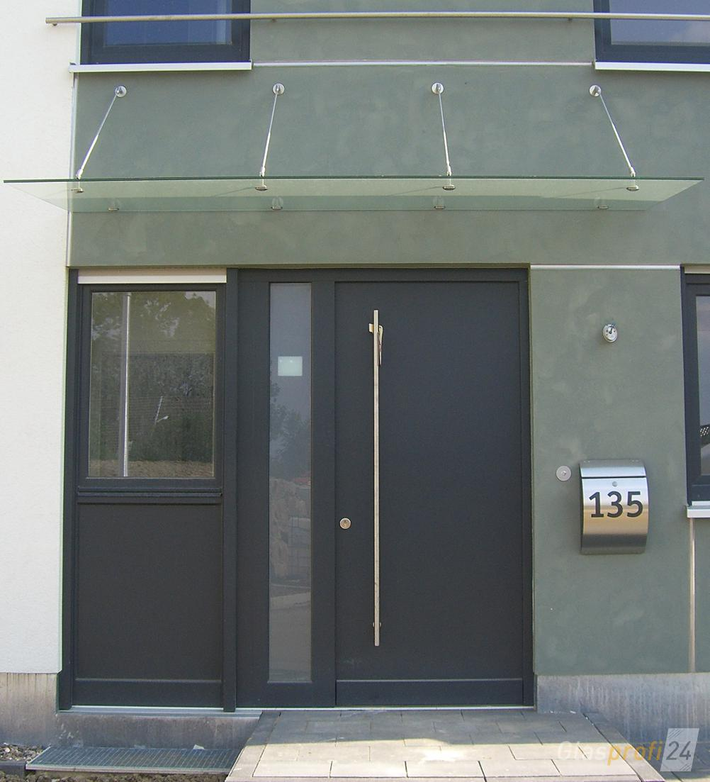 haust r vordach aus echtem glas glasprofi24. Black Bedroom Furniture Sets. Home Design Ideas
