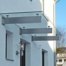 glasvordach spada mit edelstahl tr gern glasprofi24. Black Bedroom Furniture Sets. Home Design Ideas