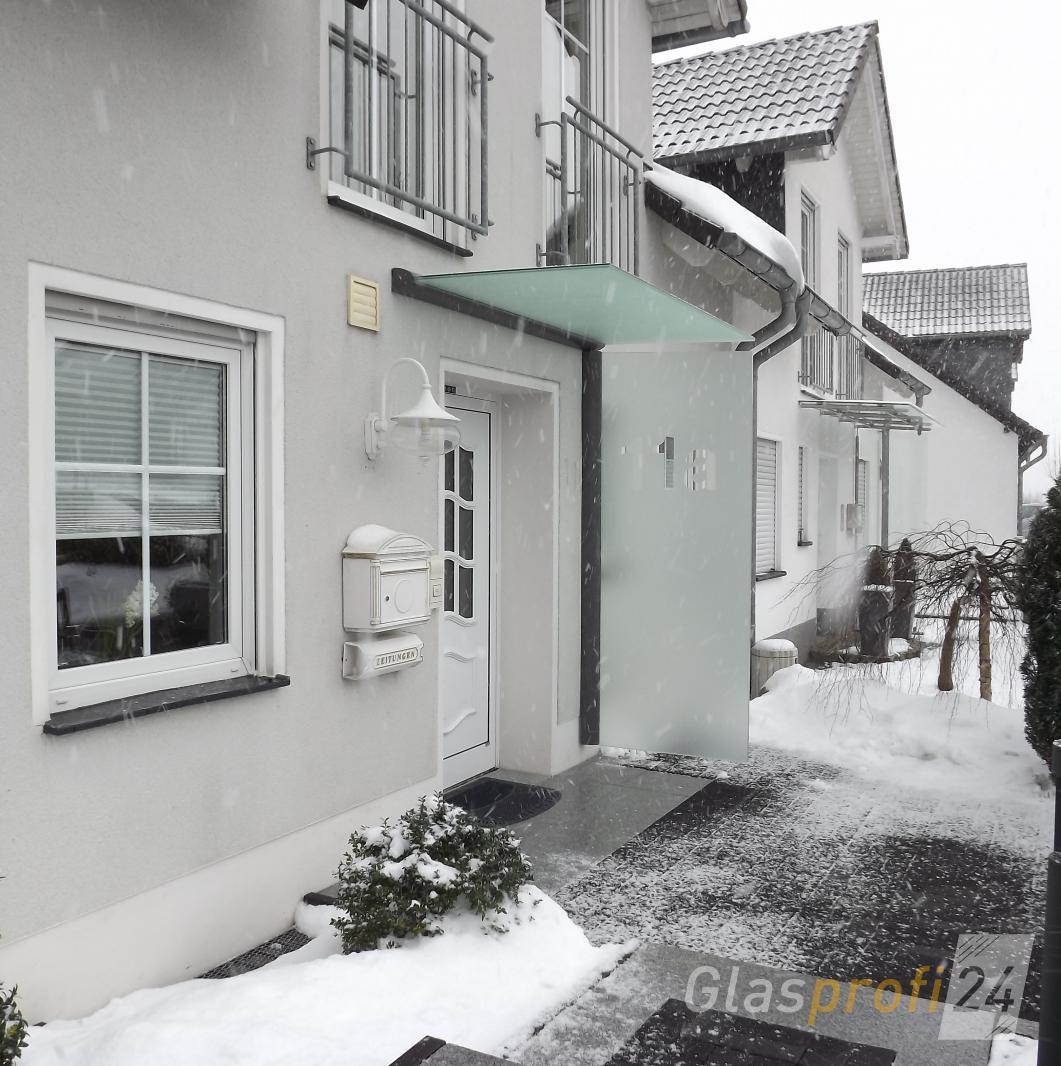 Windfang Hauseingang Glas vordach mit seitenteil als haustür windfang glasprofi24