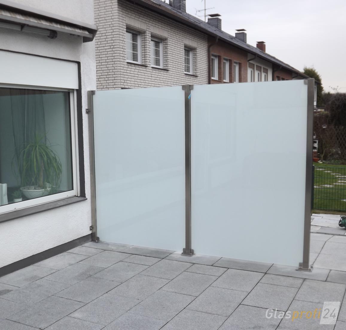glaszaun f r wind und sichtschutz glasprofi24. Black Bedroom Furniture Sets. Home Design Ideas