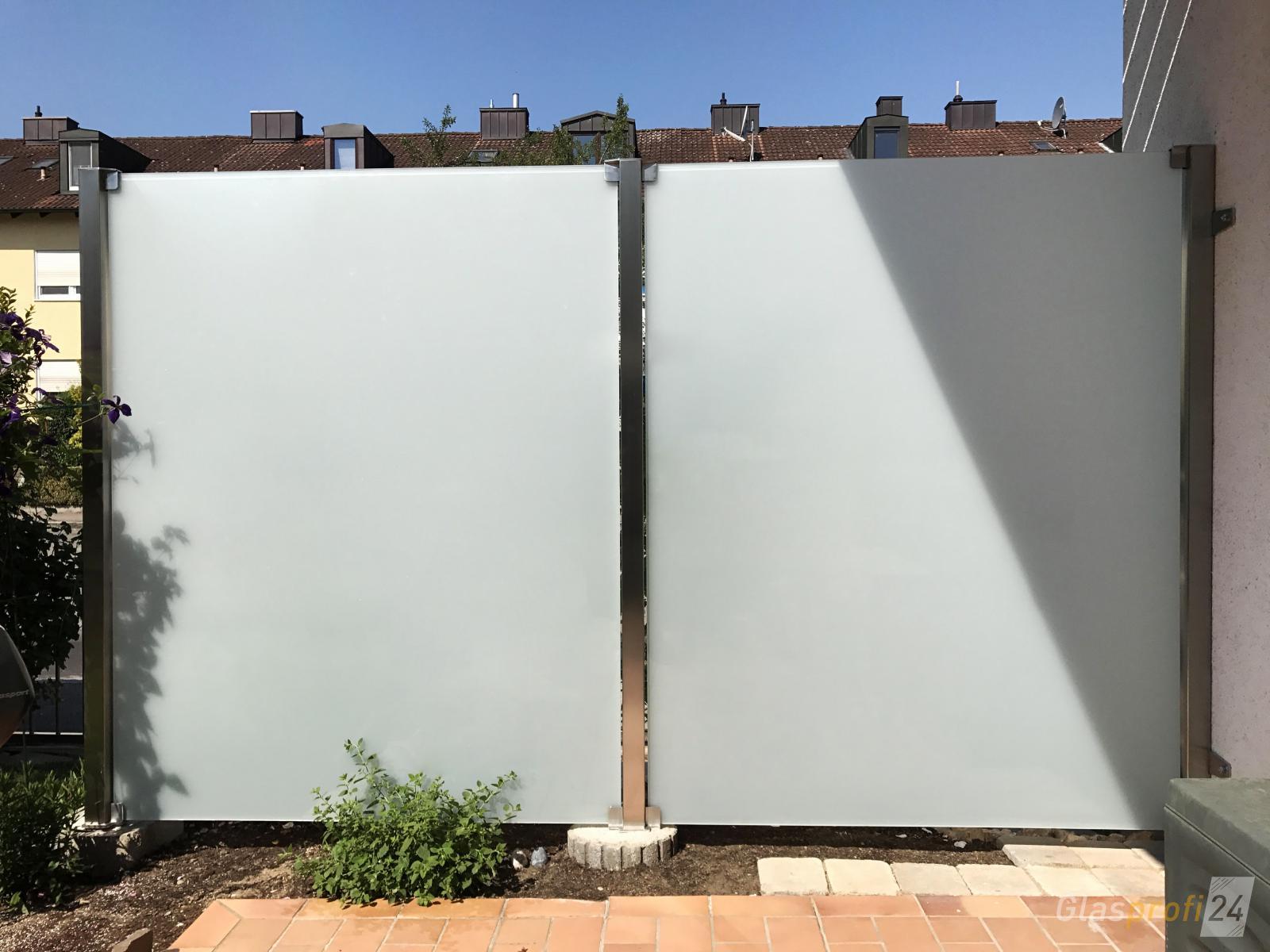 Sichtschutz Aus Glas Und Edelstahl Mksurf Club