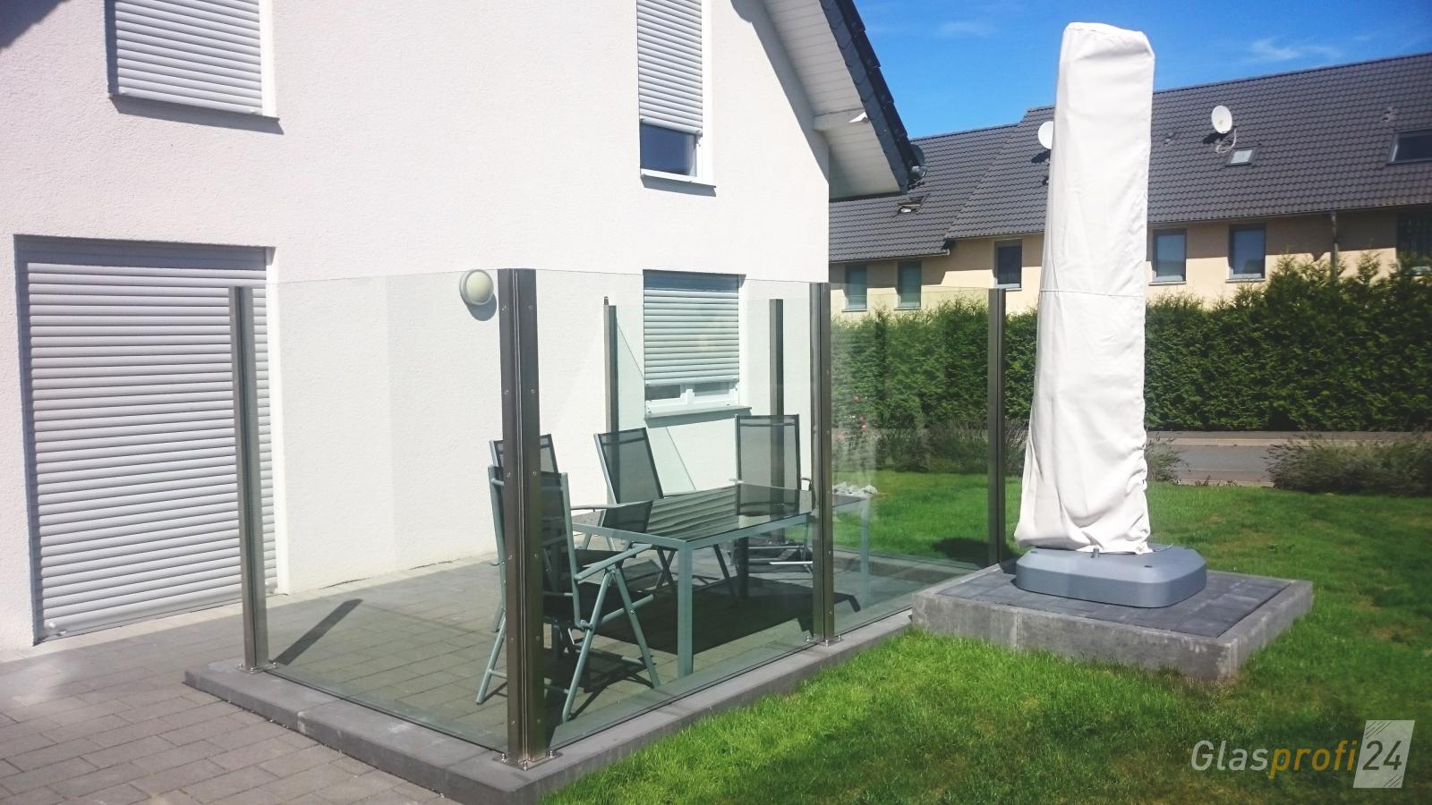 windschutz f r die terrasse glasprofi24. Black Bedroom Furniture Sets. Home Design Ideas