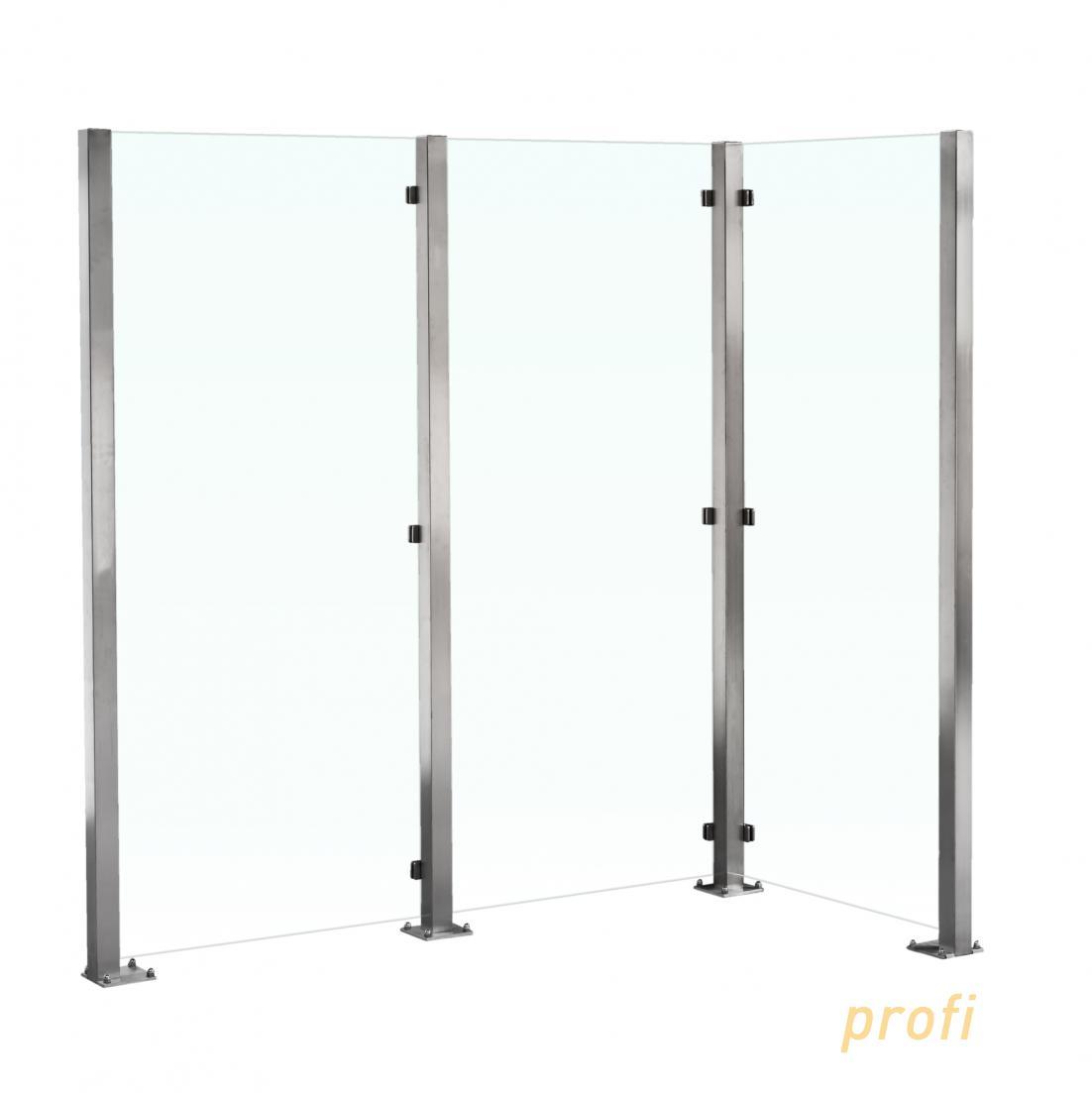 sichtschutz im garten aus glas glasprofi24. Black Bedroom Furniture Sets. Home Design Ideas