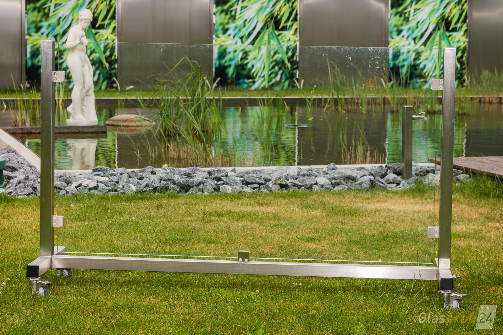 Mobiler Windschutz Terrasse ~ Glas windschutz auf rollen glasprofi
