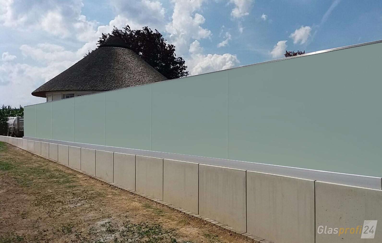 Glaszaun Perviento Als Grundstucksbegrenzung Glaszaun Garten