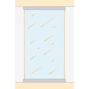 Deckenschiene und U-Profil Boden