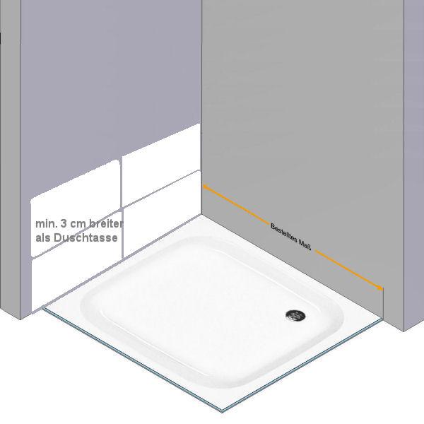 glasdusche nach ma glasprofi24. Black Bedroom Furniture Sets. Home Design Ideas