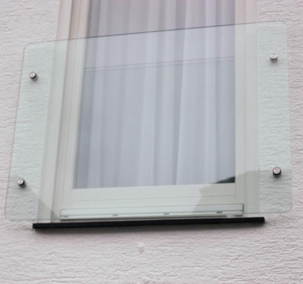 franzosischer balkon aus glas glasprofi24 With französischer balkon mit glaswand garten