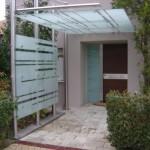 Schlosserei glasprofi24 - Vordach mit seitenwand ...