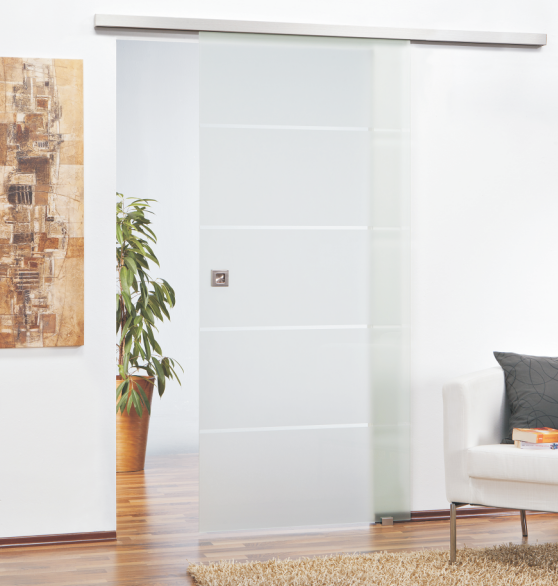 glasschiebet r mit softclose piano glasprofi24. Black Bedroom Furniture Sets. Home Design Ideas
