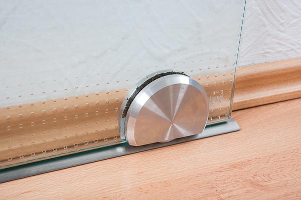 Schiebetür bodenschiene  Glasschiebetür mit Bodenrollen | GLASPROFI24