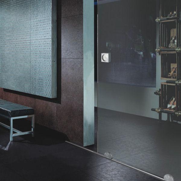 Schiebetür glas design  Glasschiebetür mit Bodenrollen | GLASPROFI24
