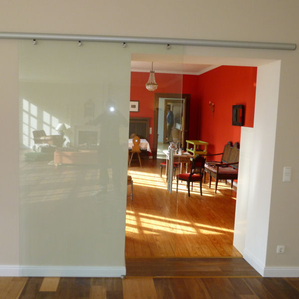 raumtrennwand aus glas nach ma glasprofi24. Black Bedroom Furniture Sets. Home Design Ideas