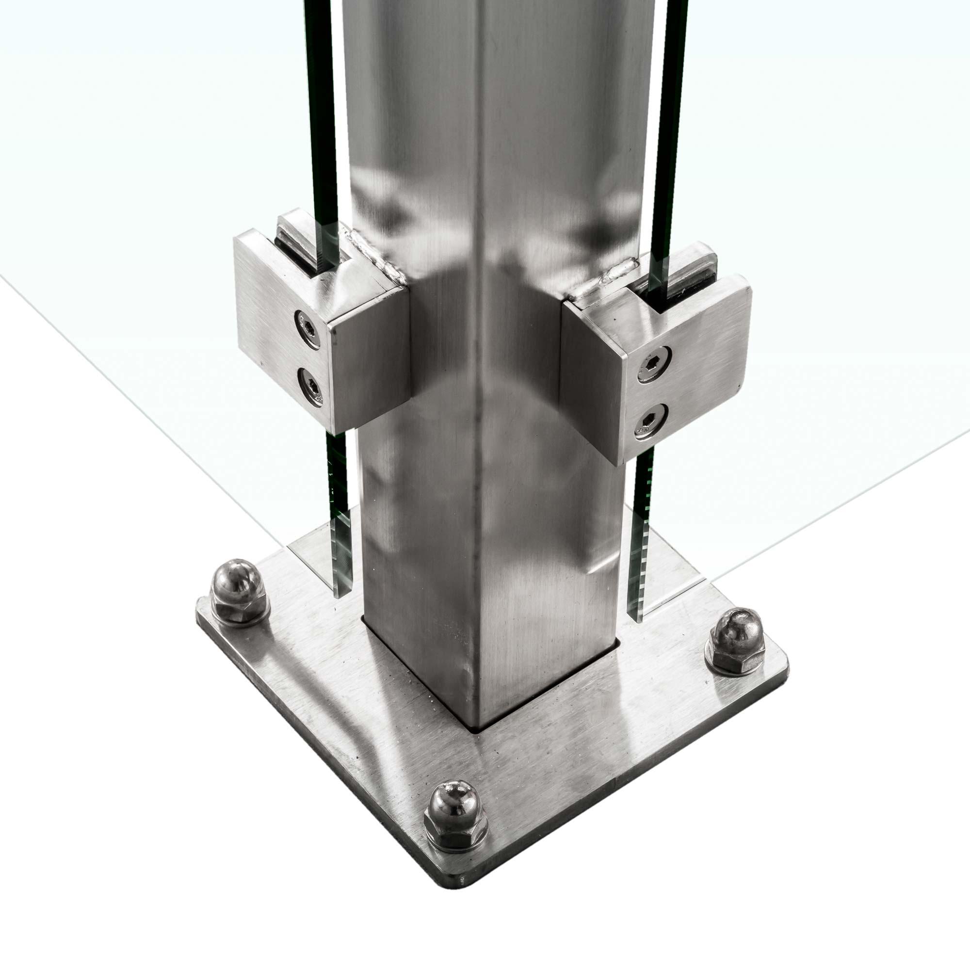 Sichtschutz im garten aus glas glasprofi24 - Sichtschutz glas edelstahl ...