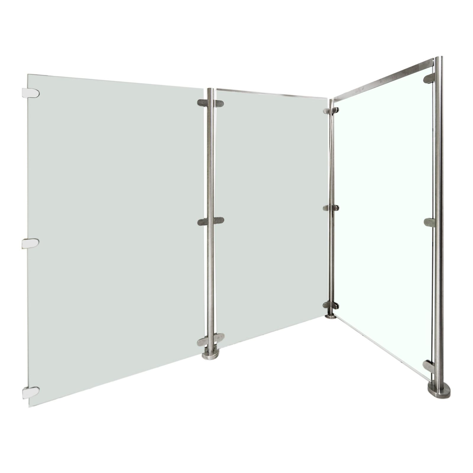 sichtschutz glas edelstahl inneneinrichtung und m bel. Black Bedroom Furniture Sets. Home Design Ideas