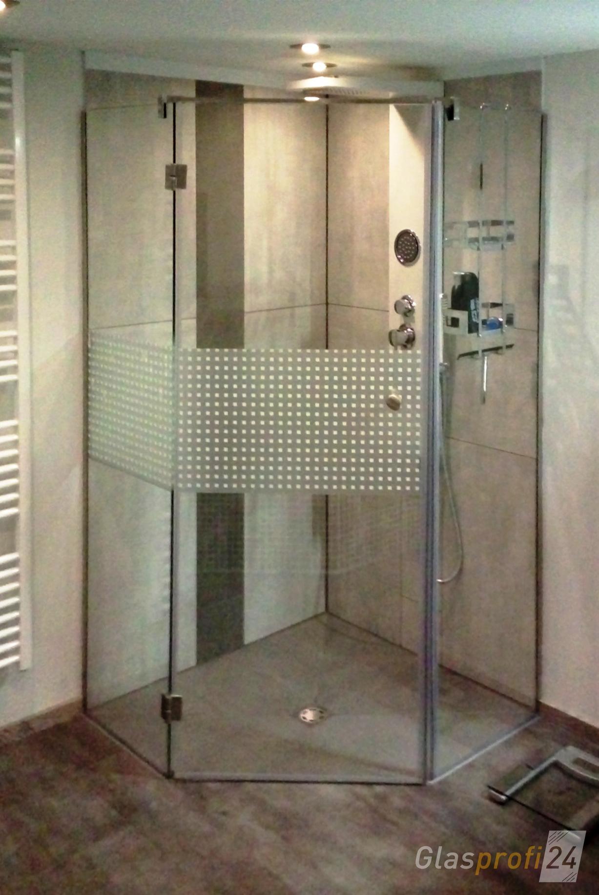 5 eck dusche aus glas glasprofi24. Black Bedroom Furniture Sets. Home Design Ideas