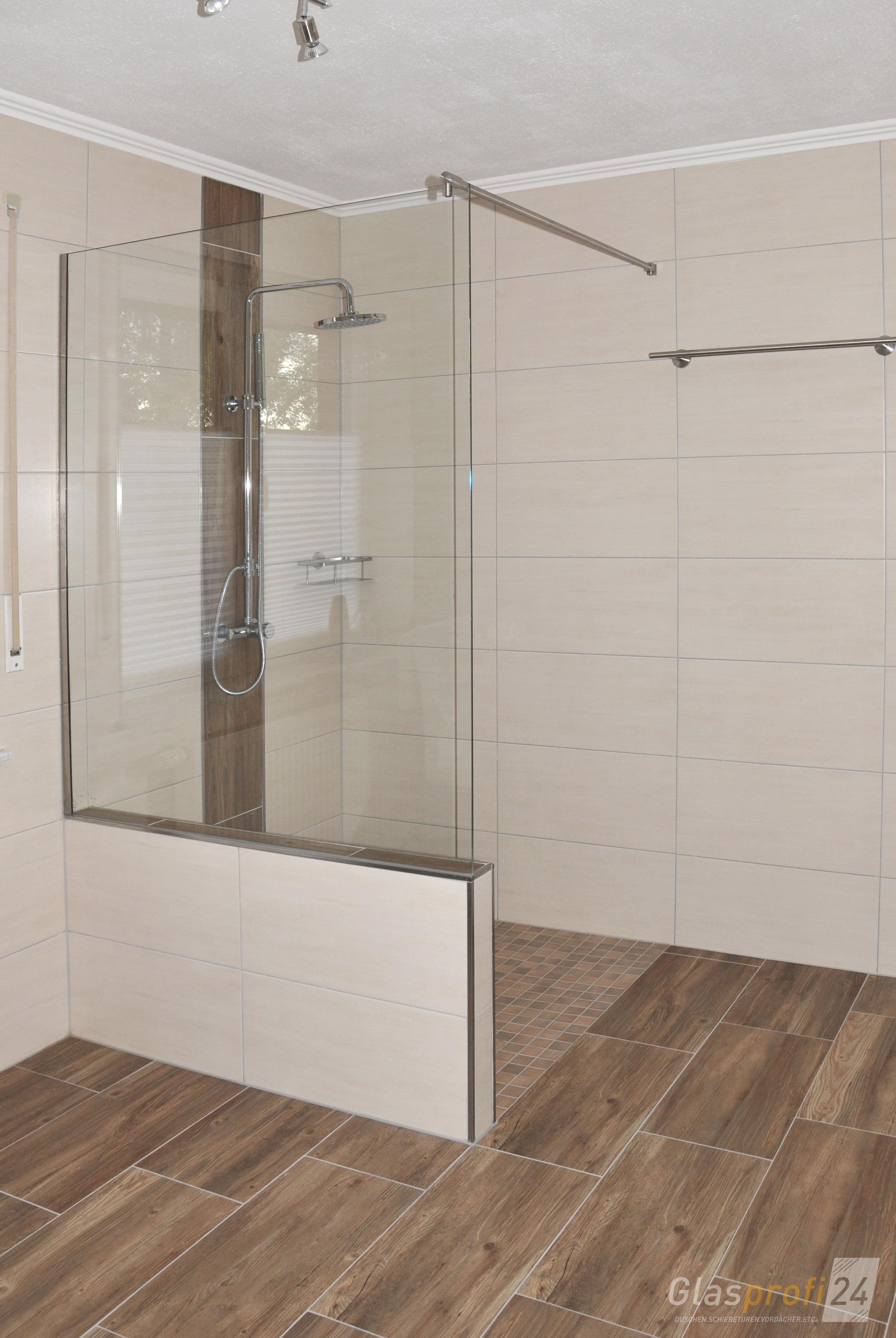 Badewannen anschluss als glasdusche glasprofi24 for Badewanne mit duschkabine