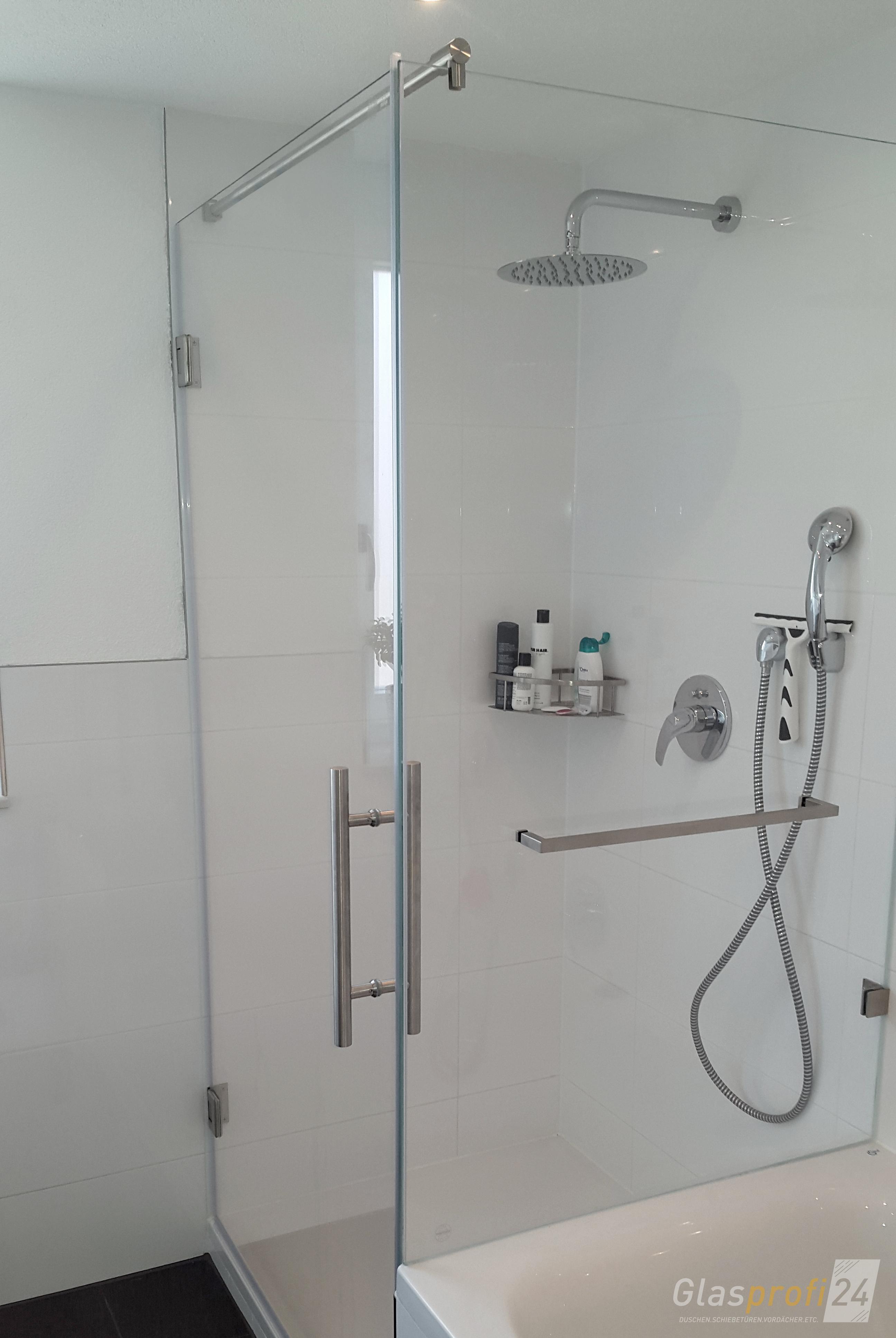 Glasabtrennung Dusche Badewanne