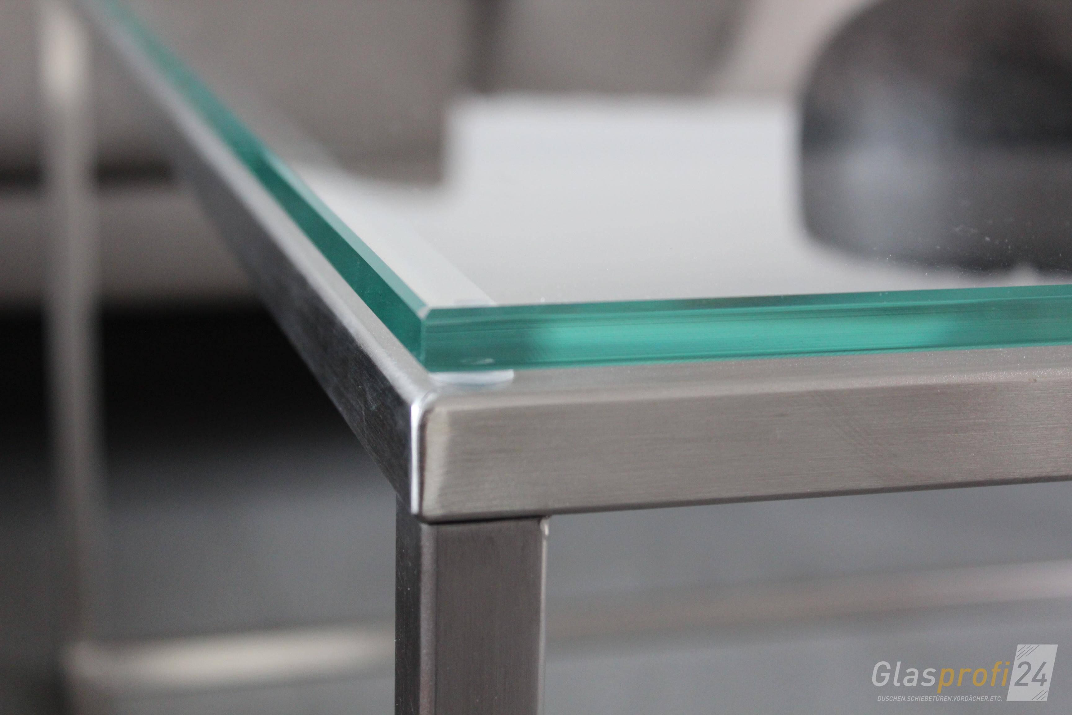 Glastisch Bento Detailansicht