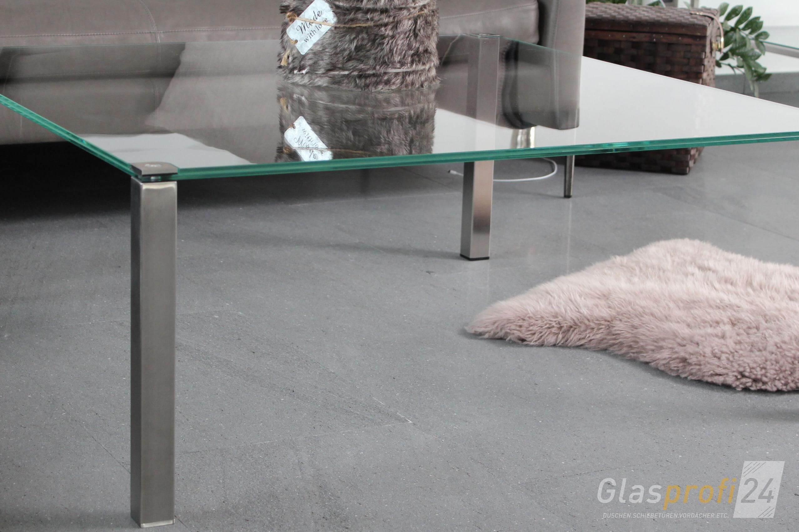 Glastisch Pierna Tischplatte