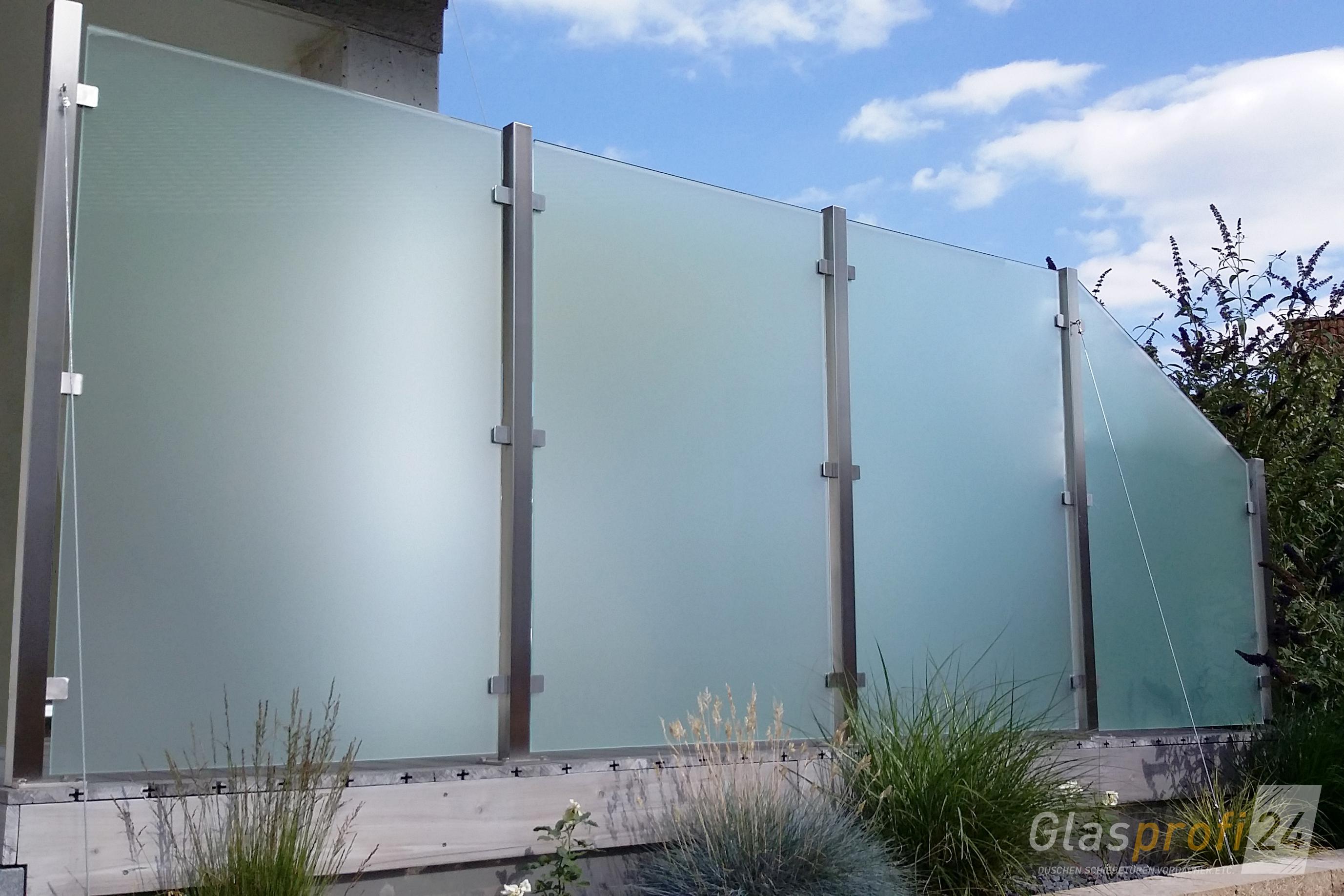 Sehr Sichtschutz aus Glas für den Garten | GLASPROFI24 YG77