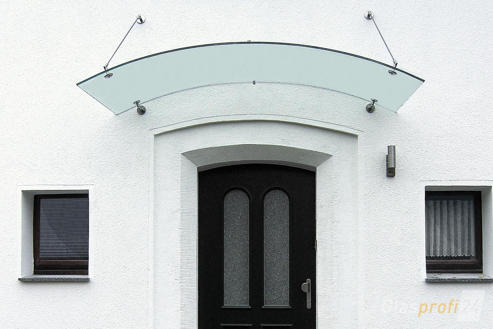 Glas Vordach ELLA mit robustem Rahmen | GLASPROFI24