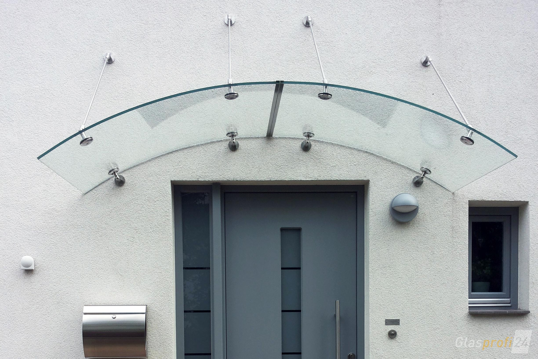 Arcata Rundbogenvordach Glas Glasprofi24