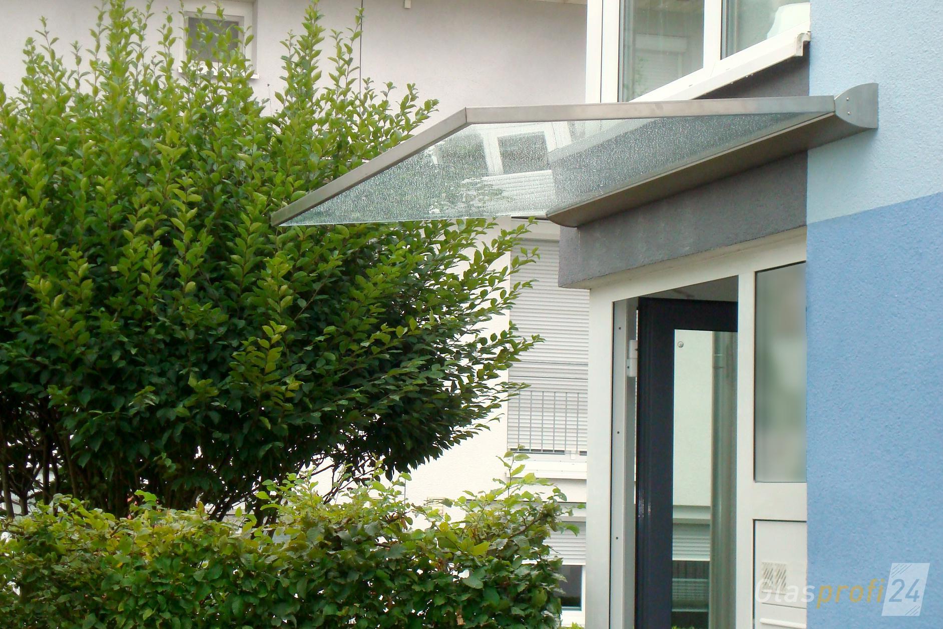 Hausturuberdachung Dura Ein Freitragendes Glas Vordach Glasprofi24
