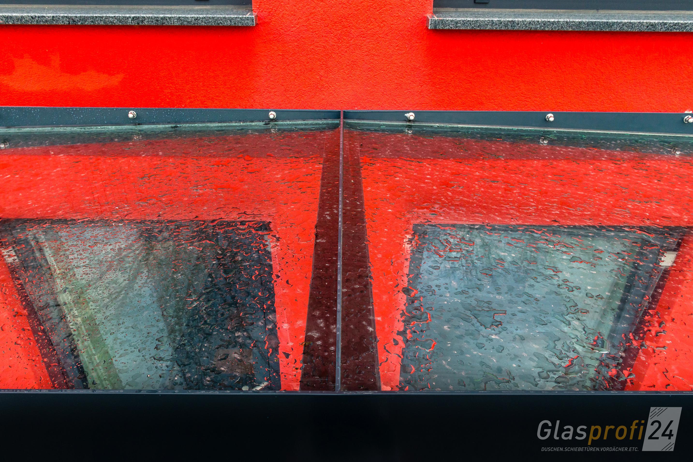 Glas Vordach Ella Mit Umlaufendem Edelstahl Rahmen