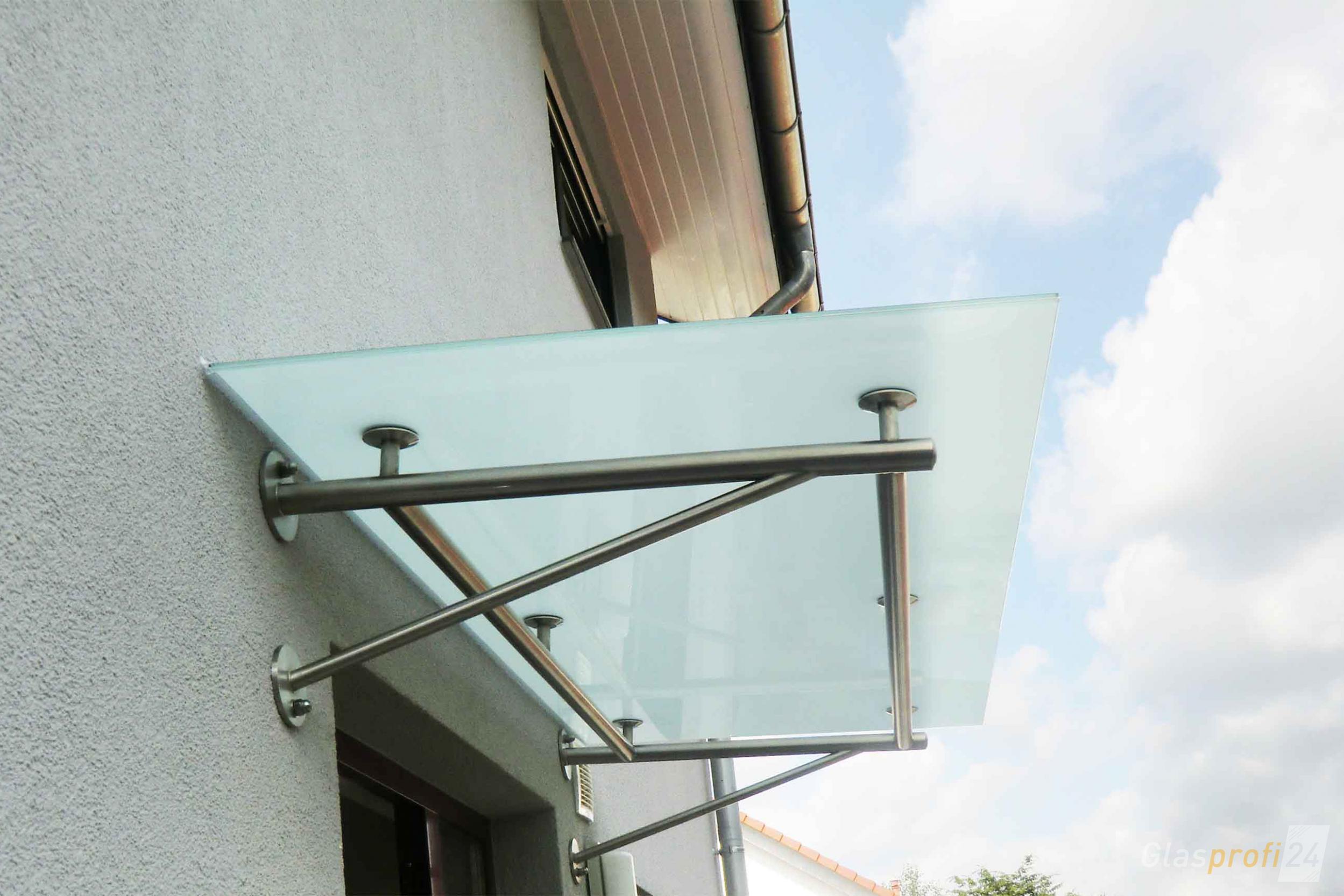 Gut gemocht Edelstahlvordach mit Glas TRAVE | GLASPROFI24 MK34