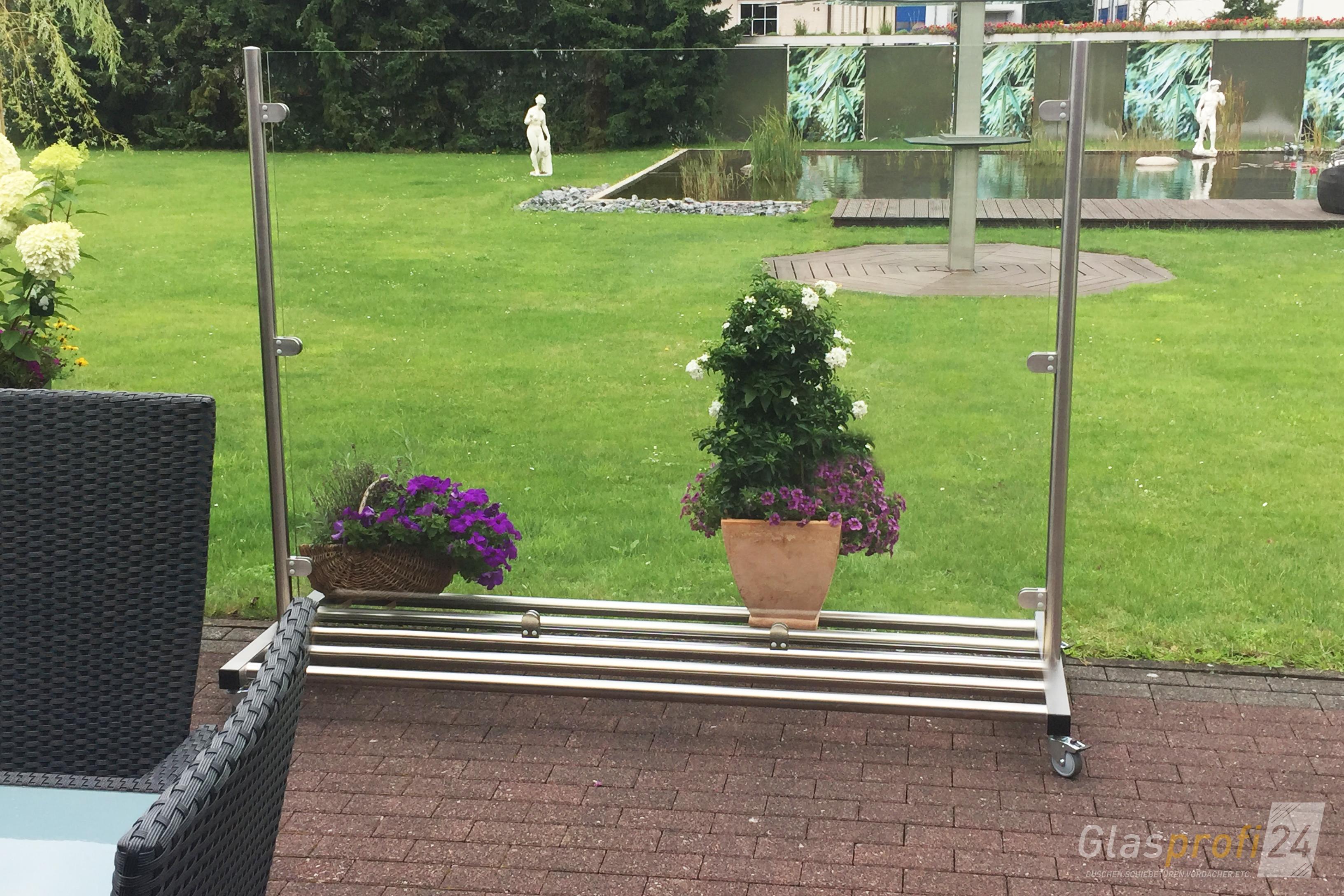 Glas Windschutz Auf Rollen Glasprofi24