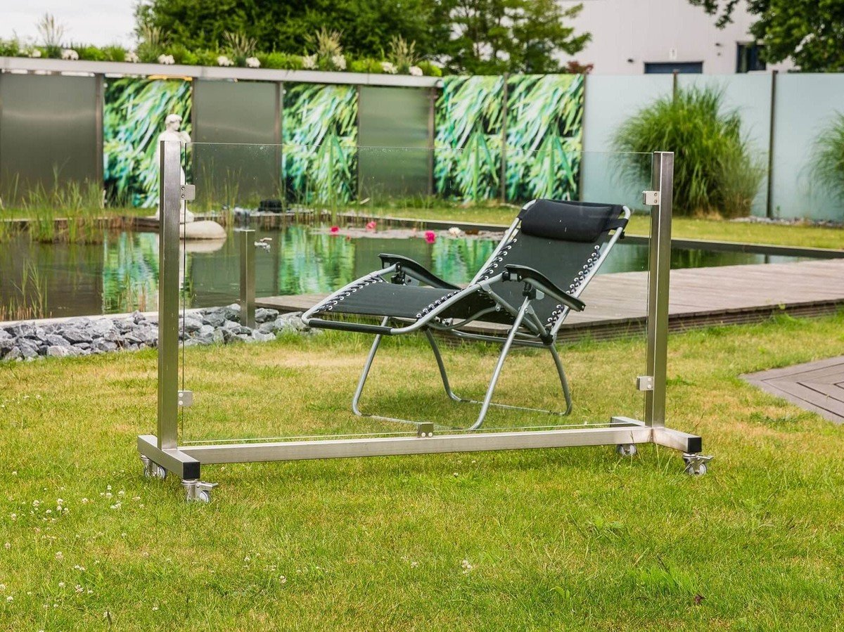 Mobiler Wind  und Sichtschutz auf Rollen kaufen   individuell nach ...