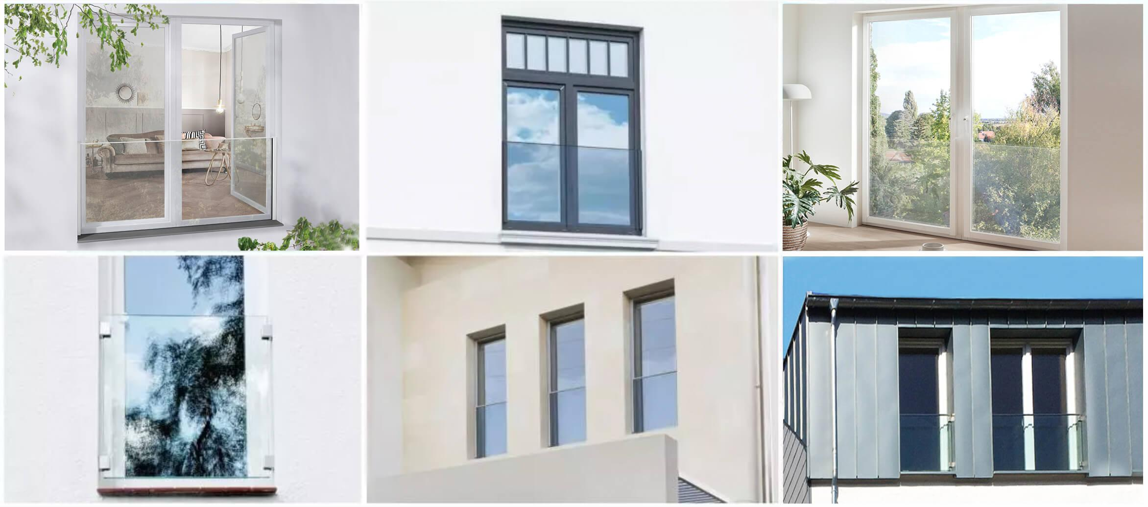 Glas Fensterbrüstung