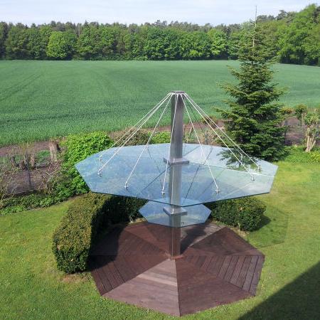 Glasschirm für den Garten