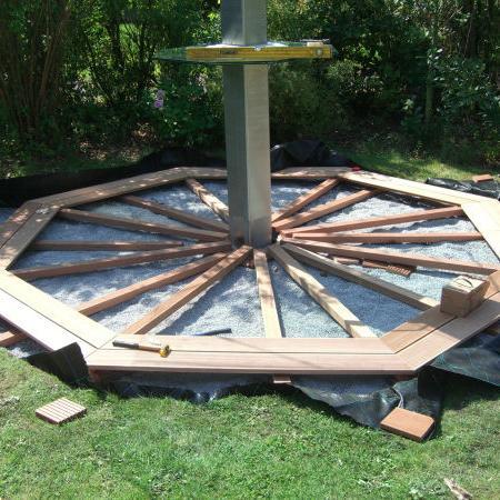 Trägerkonstruktion planken