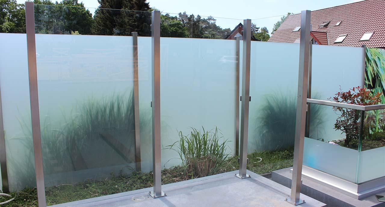 Sichtschutz Im Garten Aus Glas