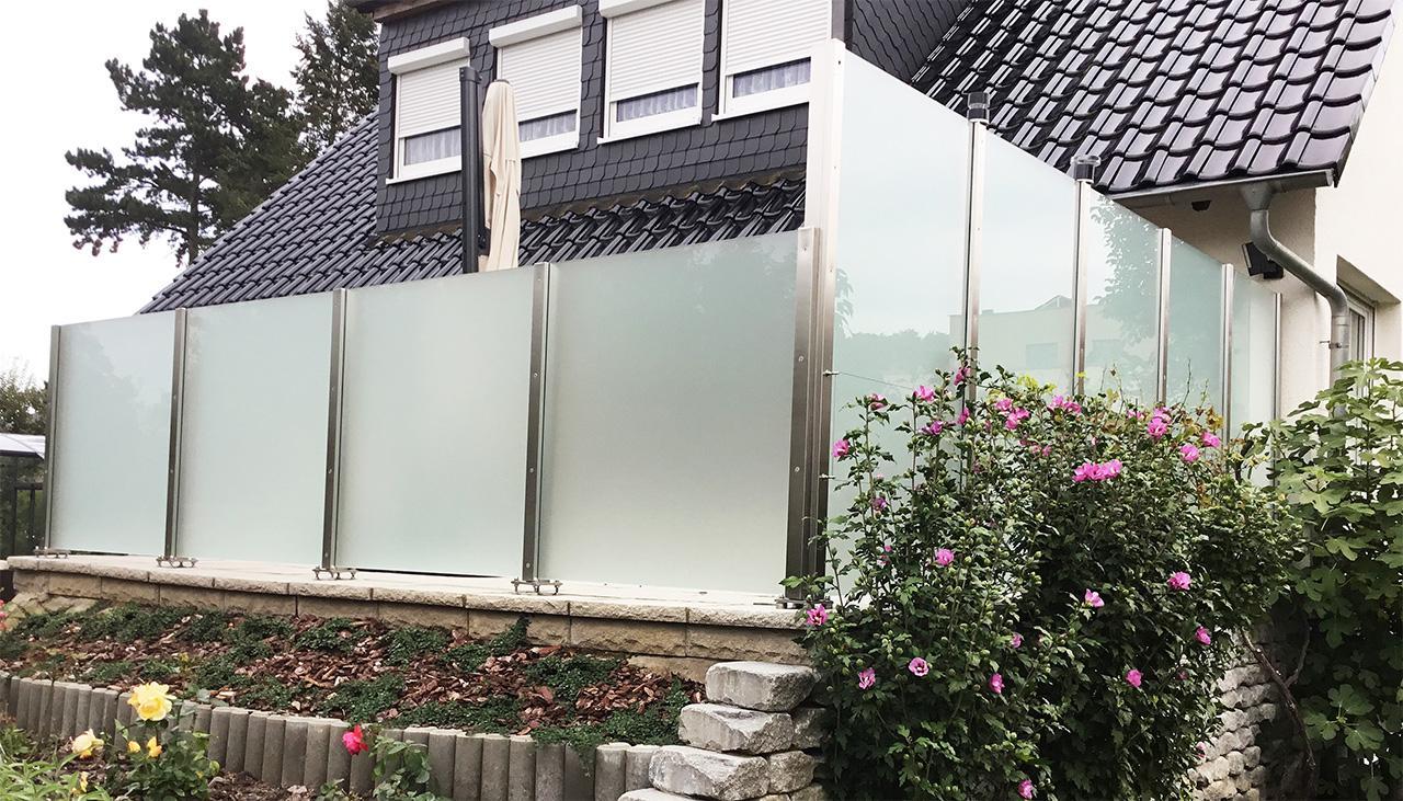 Glaszaun Fur Garten Terrasse Und Balkon Glasprofi24