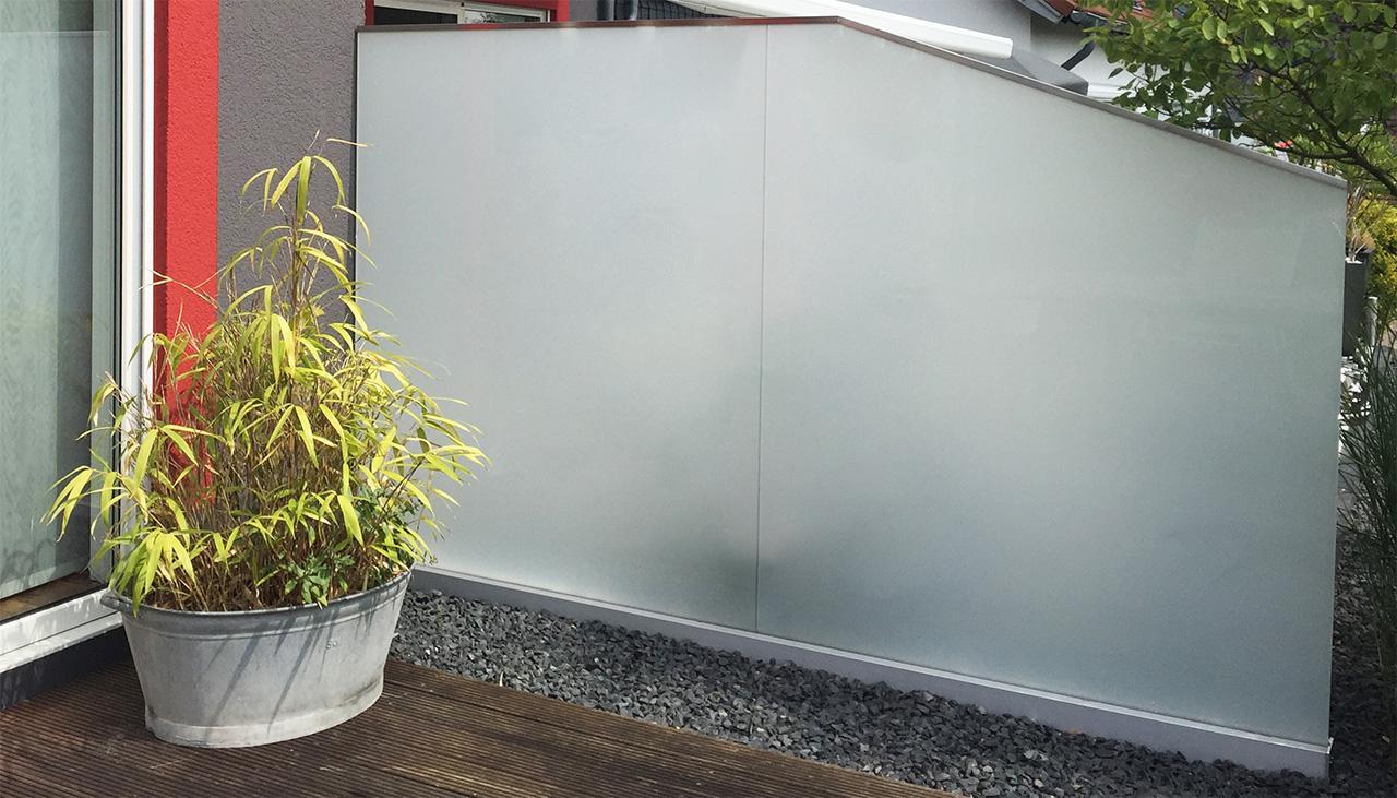 Beliebt Glaszaun für Garten, Terrasse und Balkon | GLASPROFI24 FN76