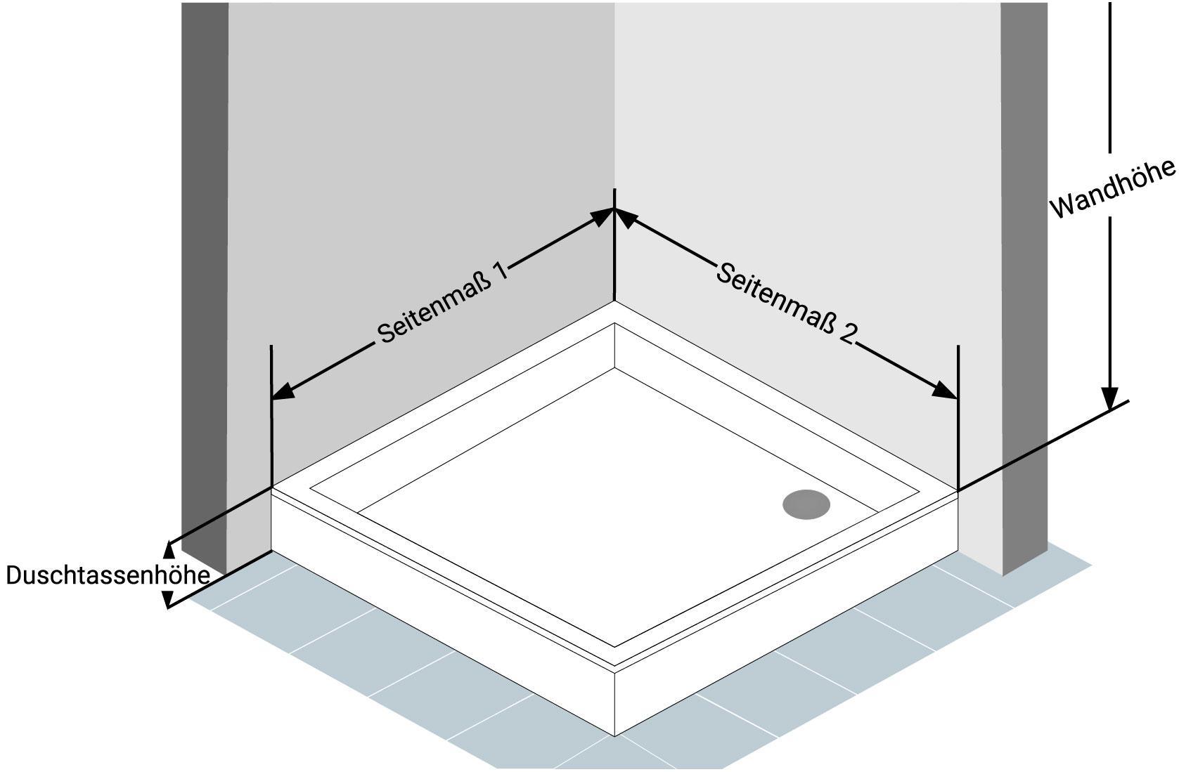 Abbildung 1 - Eckdusche-Aufmass