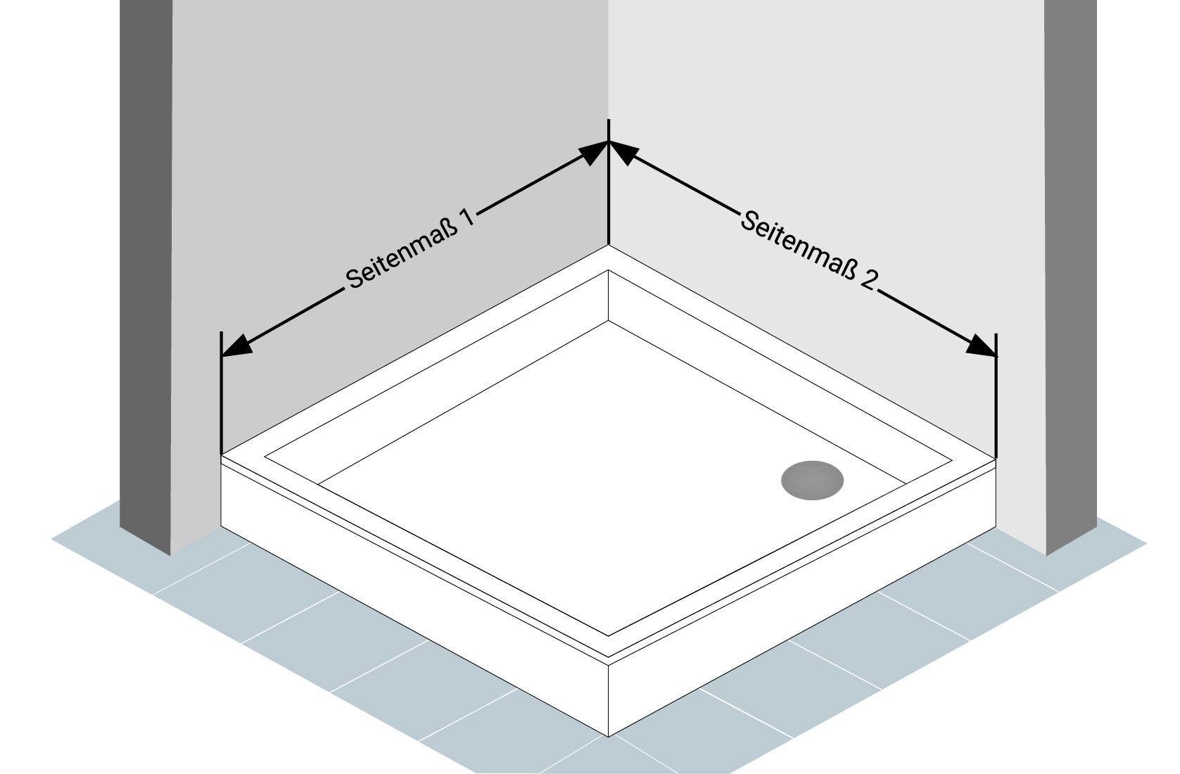 Abbildung 2 - Eckdusche-Aufmass
