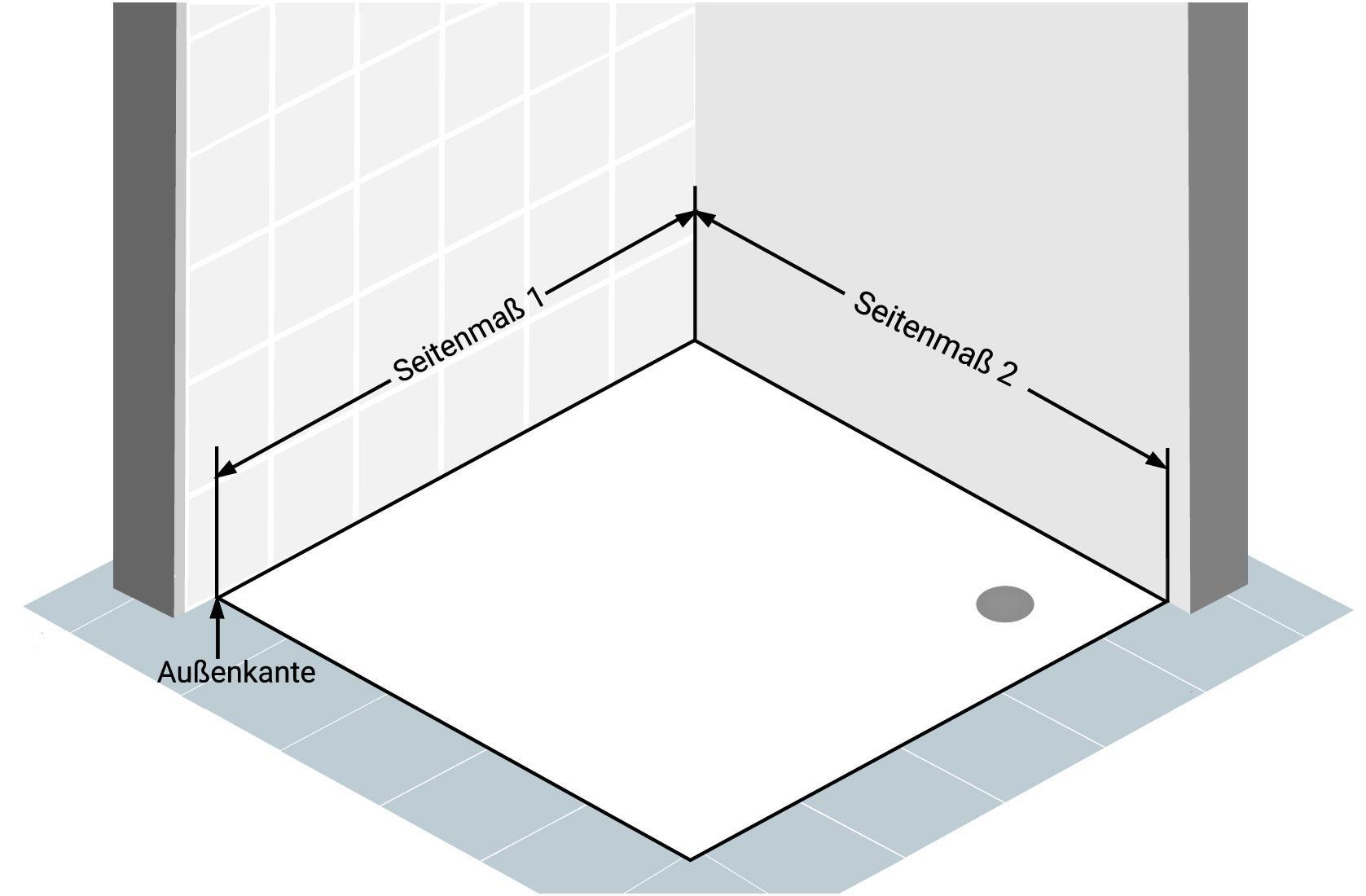 Abbildung 4 - Eckdusche-Aufmass