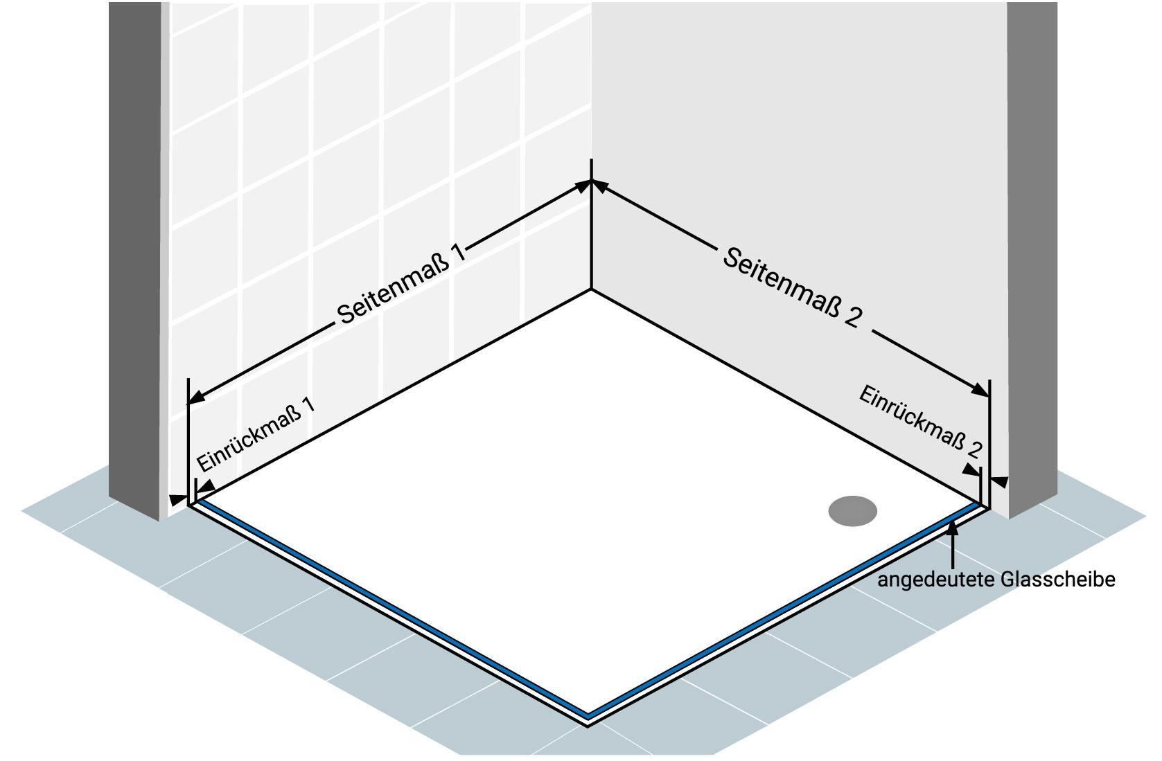 Abbildung 5 - Eckdusche-Aufmass