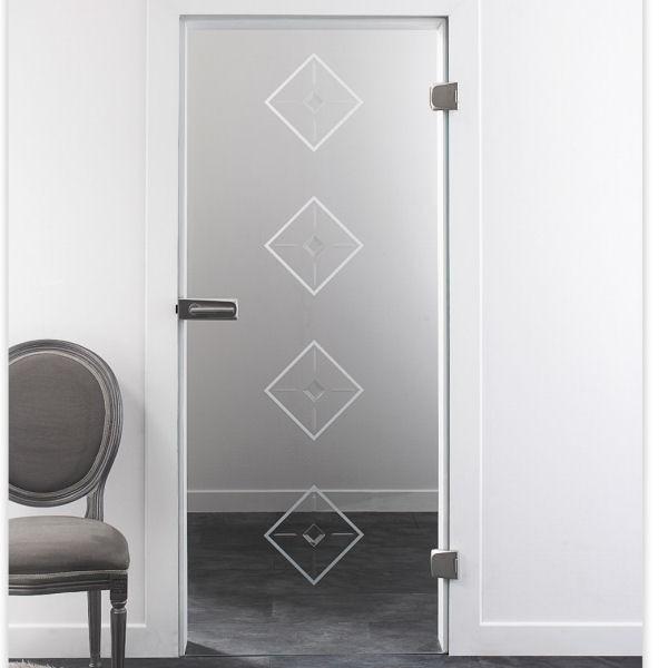 glas zimmert r mit beschlag und t rdr cker rillenschliff motiv diamond. Black Bedroom Furniture Sets. Home Design Ideas