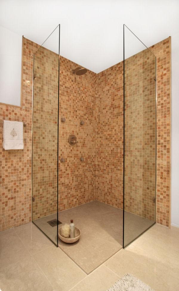Nischendusche Bauen : Begehbare Dusche Ohne T?r Hinter Gefliester Wand Pictures to pin on