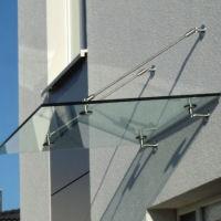 Kleines Glasvordach 1000 x 1000 mm