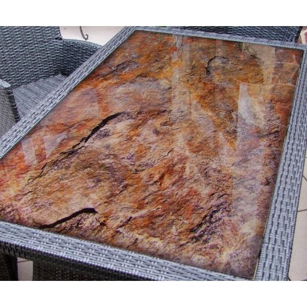 glas esstisch mit motiv the wave 2000 x 1000 mm. Black Bedroom Furniture Sets. Home Design Ideas